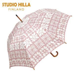ジャンプ傘 STUDIO HILLA 木製ジャンプ傘 ピサラ スタジオヒッラ 北欧 あまの ピンク 花|applemint-zakka2