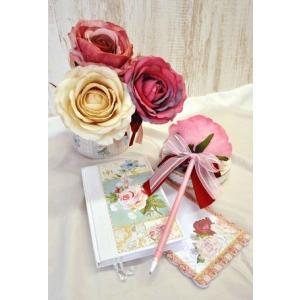 ボールペン エレガントローズボールペン  薔薇雑貨 お花のボールペン|applemint-zakka2