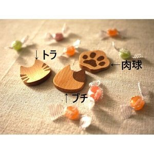 箸置き 木製 猫雑貨 Mioシリーズ インドネシア製 ねこ好き ねこカトラリー キッチンにゃんこ メール便可|applemint-zakka2