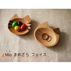 猫雑貨 豆皿 フェイス 木製 猫雑貨 Mioシリーズ インドネシア製 ねこ好き ねこカトラリー キッチンにゃんこ メール便可|applemint-zakka2