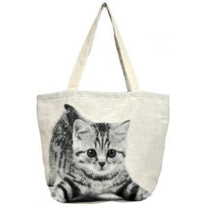 トートバッグ 猫 A4 通勤 通学 サブバッグ ねこバッグ ジャガード織り BAG PLAYCAT 猫好き neko|applemint-zakka2