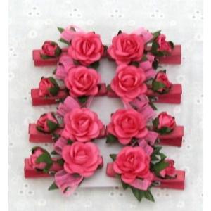 クリップ ローズ 薔薇雑貨 同色8個セット|applemint-zakka2