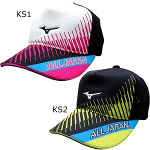 MIZUNO/ミズノ テニス メッシュキャップ ALLJAPAN キャップ 新色 [62JW18KS]ソフトテニス 帽子(62jw18ks)