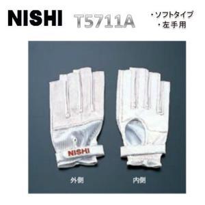 NISHI ニシ  ハンマー手袋 ソフトタイプ(左手用)陸上アクセサリー  wni(t5711a)|applesp