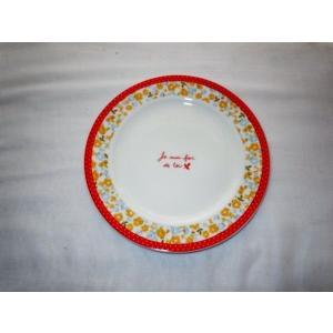 ジョワイユケーキプレート RD ★キッチン雑貨 皿  kt242