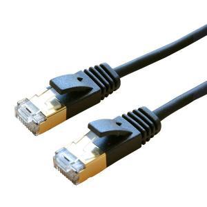 ミヨシ CAT.8LANケーブル スリム ストレート 黒 2m TWM-802BK お取り寄せ