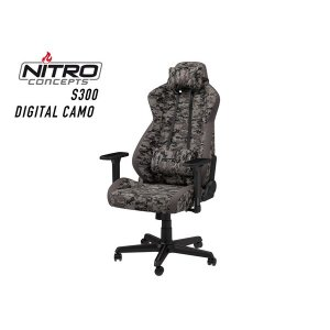 NC-S300-UC Caseking Nitro Concepts S300 ゲーミングチェア ファブリック デジタルカモフラージュ お取り寄せ ポイント2倍 メーカー直送 代引き不可|applied-net