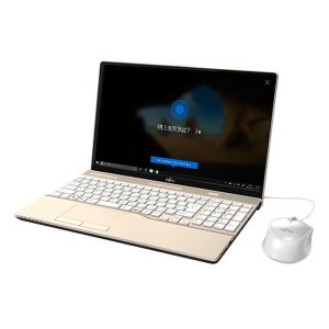 FUJITSU ノートパソコン FMVA45C2G FMV LIFEBOOK AH45/C2 15.6インチ シャンパンゴールド 2018年6月 Core i3 7020U HDD 1TB メモリ 4GB Win10 Home 64bit|applied-net