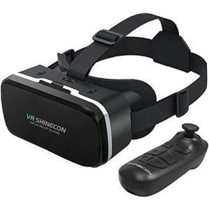 人気★VRヘッドセット リモコン付き 3Dメガネ ゴーグル HDバーチャルリアリティヘッドセット i...