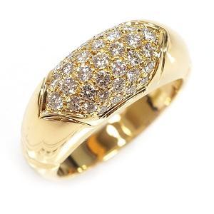 dc992d8b439b 【中古S/新品同様】BVLGARI ブルガリ チェルタウラ パヴェダイヤ K18YG ダイヤモンド リング・指輪 11号 20185245