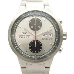 509235e5d577 【中古B/標準】IWC SCHAFFHAUSEN アイダブリューシー シャフハウゼン PRADA プラダ 2000本限定 自動巻き メンズ 腕時計  IW370802 シルバー 鑑定書付 99412