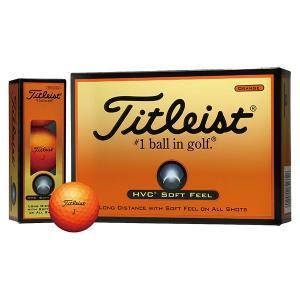 タイトリスト HVC SOFTFEEL ボール カラーオレンジ 1ダース(12個入り)【日本正規品】|aprice
