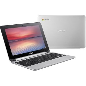 ASUS C100PA-RK3288 シルバー Chromebook Flip C100PA [ノートパソコン 10.1型ワイド液晶 eMMC16GB]|aprice