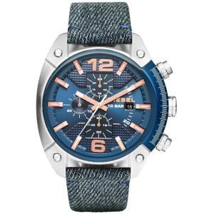 DIESEL ディーゼル DZ4374 ブルー OVER FLOW(オーバーフロー) クロノグラフ [クォーツ腕時計 (メンズウオッチ)] aprice