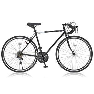 Grandir Sensitive ブラック ロードバイク(700×28C・21段変速・フレーム52...