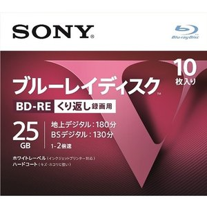 SONY 10BNE1VLPS2 [BD-RE 2倍速 10枚組]|aprice