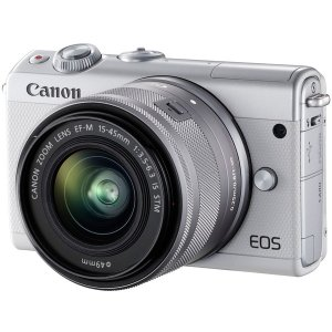 CANON EOS M100 W 15-45 IS ホワイト...