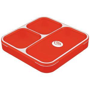 CB JAPAN 薄型弁当箱 フードマン800ml クリアレッド
