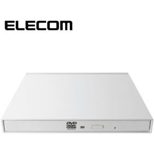 ELECOM LDR-PMK8U2VWH DVDマルチ ドライブ 外付け mini-B USB2.0...