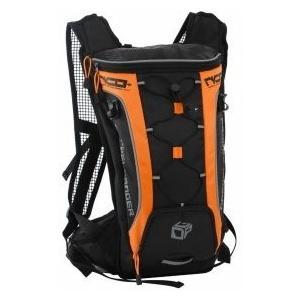 DOPPELGANGER DBM315-BK ブラック×オレンジ ナローサイクルバックパックプラス [超軽量バックパック  (フロント/インナー2ヶ所の収納スペース)]|aprice