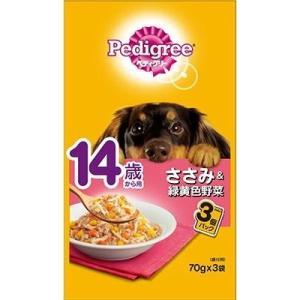 MARS/マースジャパンリミテッド  ペディグリー 14歳から用 ささみ&緑黄色野菜 70g×3袋