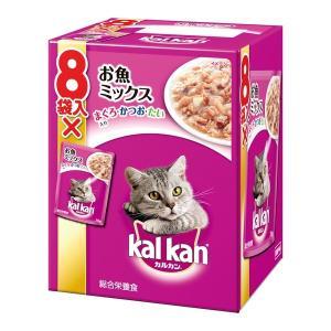 マースジャパン カルカン パウチ お魚ミックス まぐろ・かつお・たい入り 70g×8袋