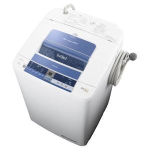日立(HITACHI) 縦型 (タテ型) 簡易乾燥機能付洗濯機 ビートウォッシュ 洗濯7.0kg ナイアガラ ビート洗浄 ブルー BW-7TV-A