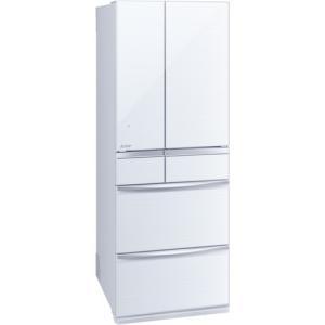 MITSUBISHI MR-MX57E-W クリスタルホワイト 置けるスマート大容量 MXシリーズ 冷蔵庫(572L・フレンチドア)|aprice