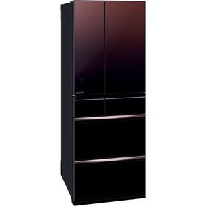 MITSUBISHI MR-MX57E-ZT グラデーションブラウン 置けるスマート大容量 MXシリーズ 冷蔵庫(572L・フレンチドア)|aprice