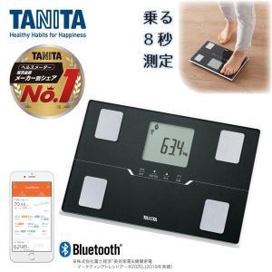 TANITA タニタ BC-768-BK メタリックブラック 黒 体組成計 薄型 軽い 軽量 スマホ 連動 アプリ 管理 bluetooth 健康管理の画像