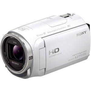 ソニー (SONY) ビデオカメラ 小型 デジタルビデオカメラ ハンディカム フルハイビジョン (フルHD) 内蔵メモリー 32GB ホワイト HDR-CX670-W
