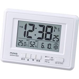 ノア精密 T-693WH-Z ホワイト MAG ケプラー [電波デジタル目覚まし時計]|aprice