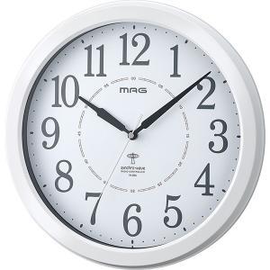 ノア精密 W-665WH-Z ホワイト MAG アレース [アナログ ラウンド 電波掛時計]|aprice
