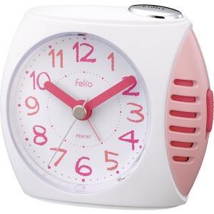 ノア精密 FEA167PK-Z ピンク Felio [目覚まし時計 (ペンパル)]|aprice