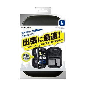 ELECOM TB-02GPBK ブラック ガジェットポーチ Lサイズ