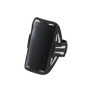 ELECOM P-ABC02BK ブラック [スマートフォン用スポーツアームバンド(Lサイズ)] aprice