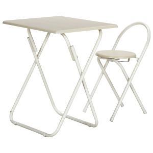 不二貿易 83438 テーブル&チェアーセット WH/WH YS-7050U WH/WH ホワイト aprice