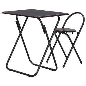 不二貿易 83439 テーブル&チェアーセット BR/BK YS-7050U BR/BK ブラック/ブラウン aprice