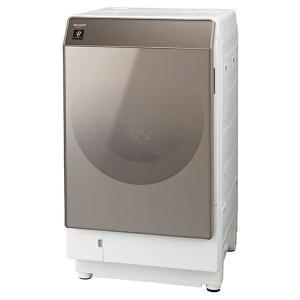 洗濯機 シャープ SHARP ES-G111-NL ドラム式洗濯乾燥機 洗濯11kg 乾燥6kg 白 ホワイト ゴールド  ガラスドア おしゃれ 左開き|aprice