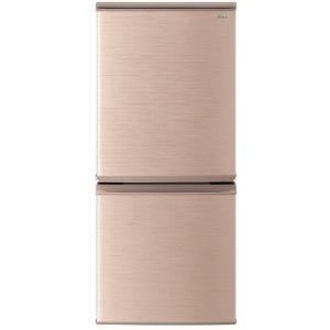 小型冷蔵庫 シャープ SHARP SJ-D14E-N ブロンズ ゴールド おしゃれ 一人暮らし 単身 137L 140L 2ドア シンプル 右開き 左開き|aprice