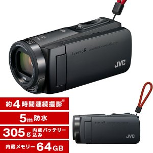 JVC GZ-RX670-B マットブラック Everio R [フルハイビジョンメモリービデオカメラ(64GB)]|aprice