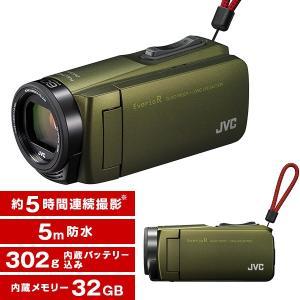 JVC GZ-R470-G カーキ Everio R [フルハイビジョンメモリービデオカメラ(32GB)]|aprice