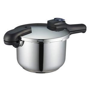 パール金属 H-5042 クイックエコ 3層底切り替え式圧力鍋 5.5L (8合炊) IH対応