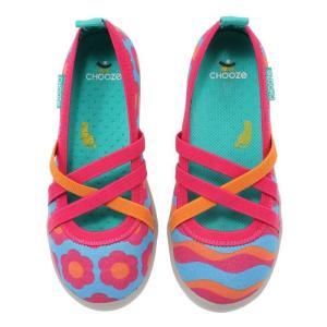 キッズ ベビー スリップオンシューズ 靴 CHOOZE チューズ  Twist Wave 女の子 パンプス バレエ キッズ  カラフル apricos