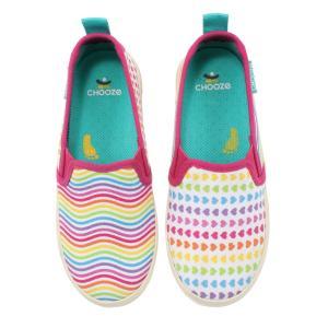 キッズ ベビー キャンバススリッポン シューズ 靴 CHOOZE チューズ   Move Beam 女の子 スニーカー キッズ  カラフル レインボーカラー apricos