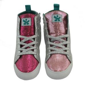 キッズ シューズ 靴 CHOOZE チューズ  ハイカットスニーカー Spark Reach 女の子 キッズ ベビー 箔 シルバー ラメ  23.5cm 23cm apricos