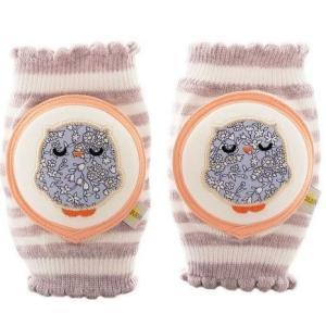 CRAWLINGS ニーパッド フクロウ ベビー ニーパッド 膝当て サポーター ギフト プレゼント 出産祝い プレミアムコットン インポート 赤ちゃん|apricos