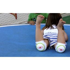 CRAWLINGS ニーパッド ブルーバンドエイド ベビー ニーパッド 膝当て サポーター ギフト プレゼント 出産祝い プレミアムコットン インポート 赤ちゃん|apricos