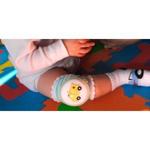 CRAWLINGS ニーパッド ダンプカー ベビー ニーパッド 膝当て サポーター ギフト プレゼント 出産祝い プレミアムコットン インポート 赤ちゃん|apricos