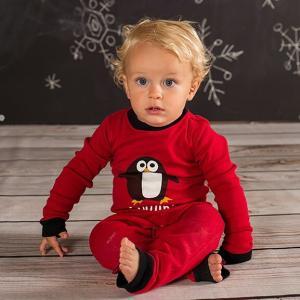 ベビー キッズ  LAZYONE レイジーワン 長袖 ペンギン カバーオール  ナイトウェア 部屋着 赤ちゃん ホームウェア 1才 1才半 ロンパース|apricos